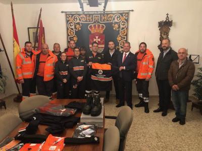 La Junta entre a Protección Civil de la provincia de Toledo 233 equipos valorados en 138.500 euros