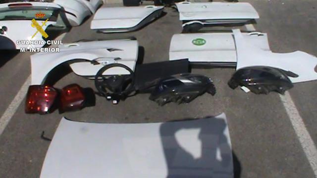 Desarticulado un grupo criminal especializado en la sustracción y desguace de vehículos