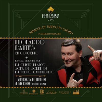La música en directo vuelve a Terraza Gatsby con Leonardo Dantés y tributo a El Canto del Loco