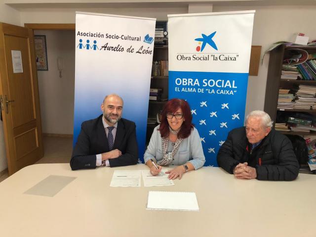 La Asociación 'Aurelio de León' recibe un 9.000 euros para su proyecto de participación e inclusión social