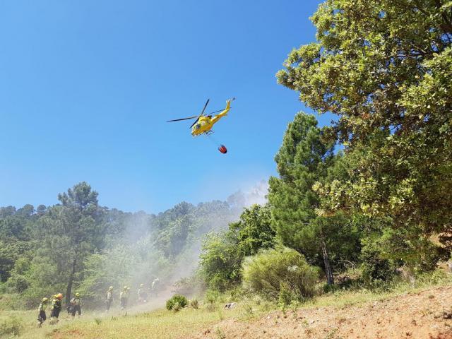 CLM amplía los medios de extinción de incendios forestales durante la Semana Santa