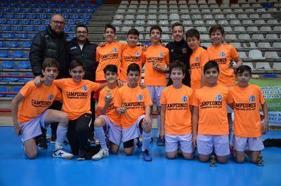 La Academia Deportiva CF/Ébora Formación Infantil, campeón provincial de fútbol sala