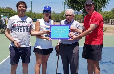 Bene Tapetado ya tiene una pista de tenis con su nombre