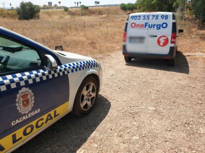 La Policía local de Cazalegas recupera en tres horas una furgoneta robada en el polígono