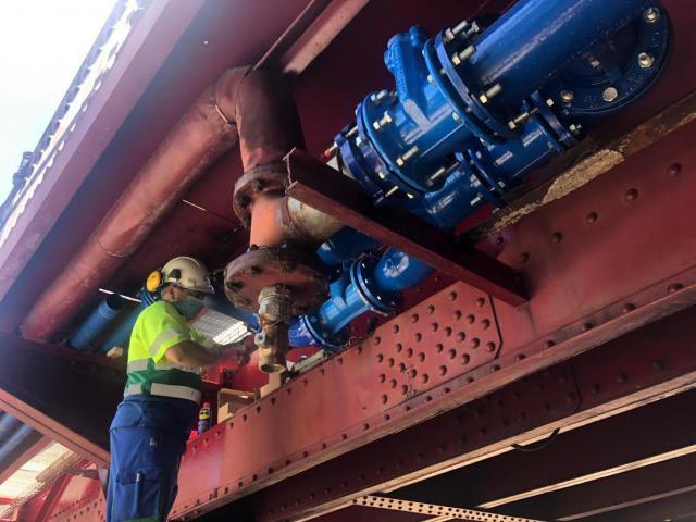 TALAVERA | Comienzan a funcionar las nuevas tuberías del Puente de Hierro