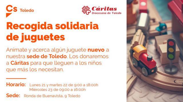 TOLEDO | Cs organiza una recogida solidaria de juguetes nuevos que donará a Cáritas