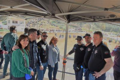 García Élez apoyó el Campeonato de España de Motocross celebrado en Talavera