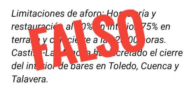 TALAVERA | Sanidad no ha decretado el cierre interior de bares y restaurantes