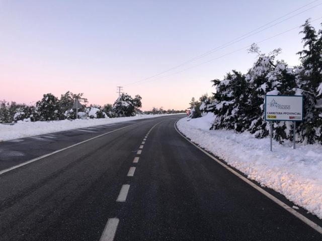 TEMPORAL | El 85% de las carreteras de la provincia de Toledo están transitables