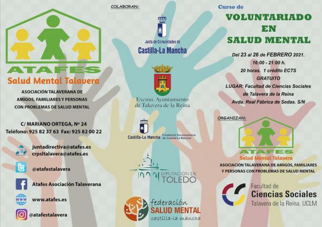 ATAFES Y UCLM | Nueva edición del curso de' Voluntariado en Salud Mental'