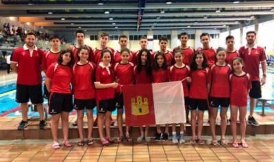 La selección de natación de CLM, cuarta en el Campeonato de España Escolar
