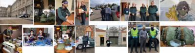 COVID-19 | Guardias civiles retirados proporcionan miles de mascarillas y material sanitario