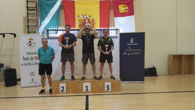 El talaverano José García se proclama campeón de Castilla-La Mancha en tenis de mesa