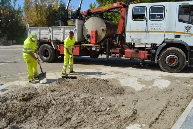Las Brigadas de Diputación ayudan a reparar daños de las tormentas