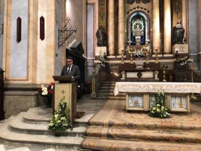 El Ecónomo del Arzobispado de Toledo, Anastasio Gómez, pregona la Navidad talaverana
