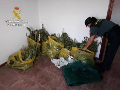 La Guardia Civil investiga a dos personas tras intervenir 13 kilos de marihuana