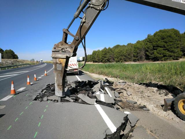 La Junta inicia el arreglo de la carretera CM-4010 dañada por las tormentas de agosto