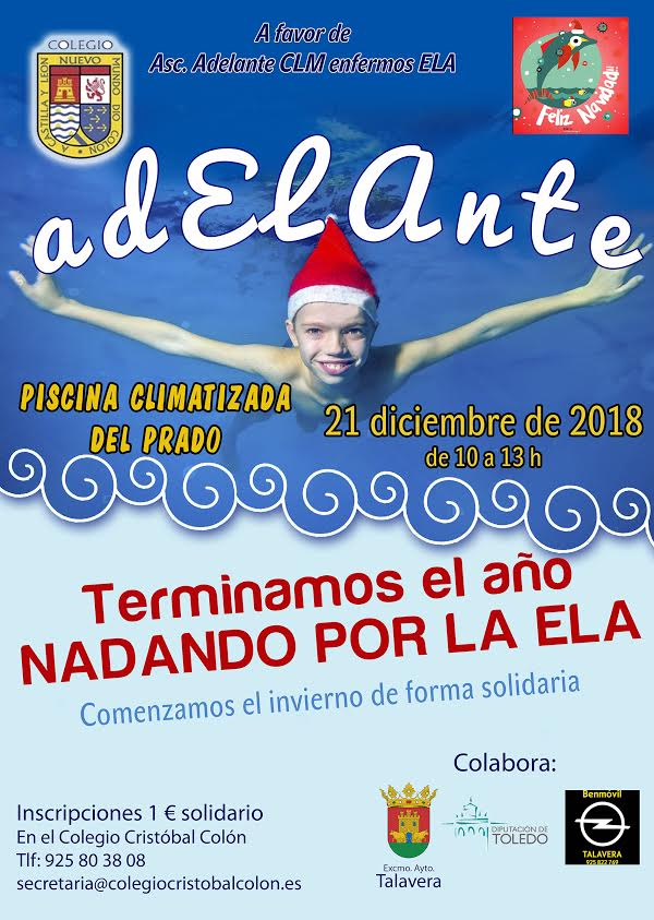 El Colegio Cristobal Colón de Talavera se moja por la ELA