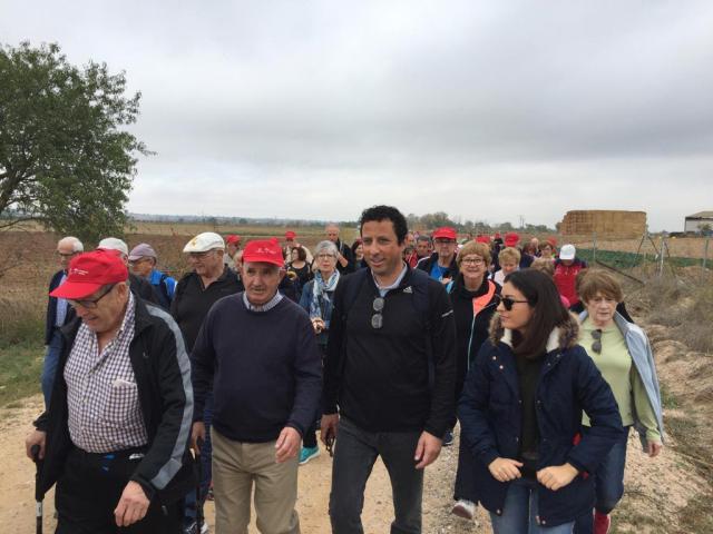 225 mayores de la provincia de Toledo participan en la Ruta Senderista de Malpica de Tajo