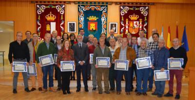 Homenaje en el Ayuntamiento de Talavera a los trabajadores municipales jubilados en 2018