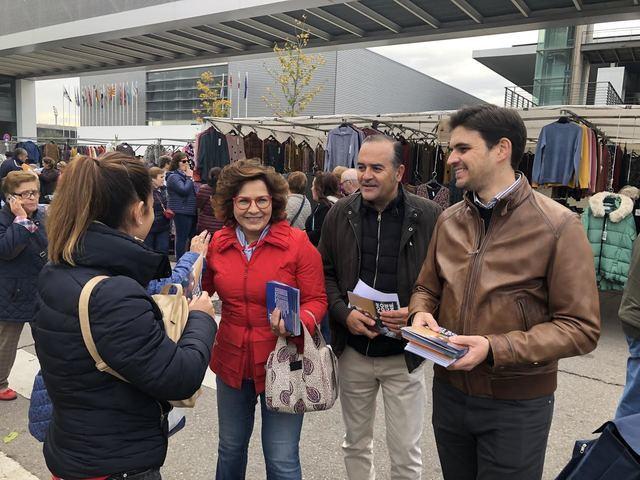 Santiago Serrado, José Julian Gregorio y Carmen Riolobos
