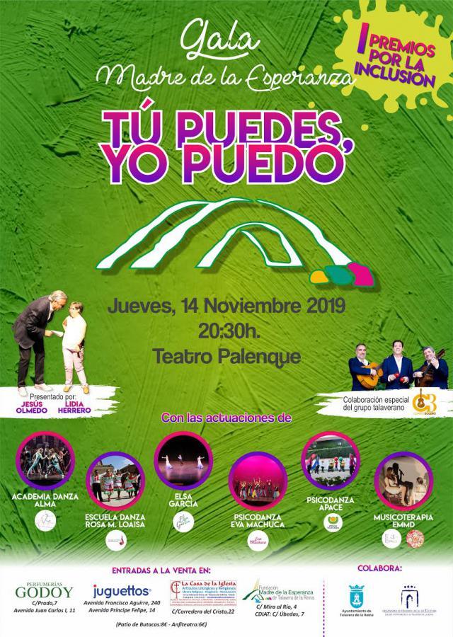 Fundación Madre de la Esperanza celebra la gala solidaria 'Tú puedes, yo puedo'
