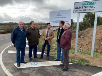 Comienzan las obras de la nueva rotonda entre la CM-5001 y la CM-5005 en la Sierra de San Vicente