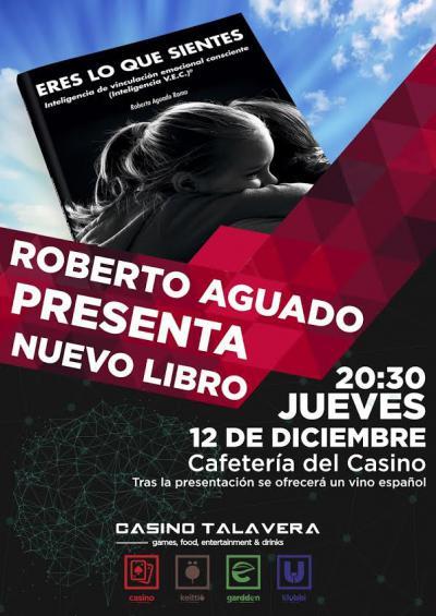 El talaverano Roberto Aguado presenta su nuevo libro 'Eres lo que sientes'