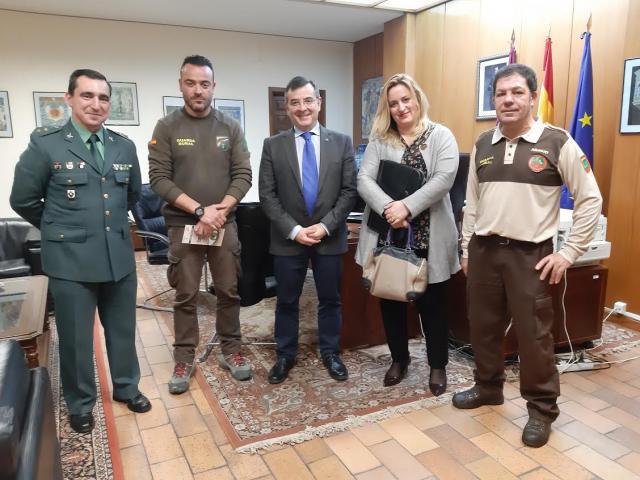 Devia recibe a la Asociación Centro España de Guardas Rurales
