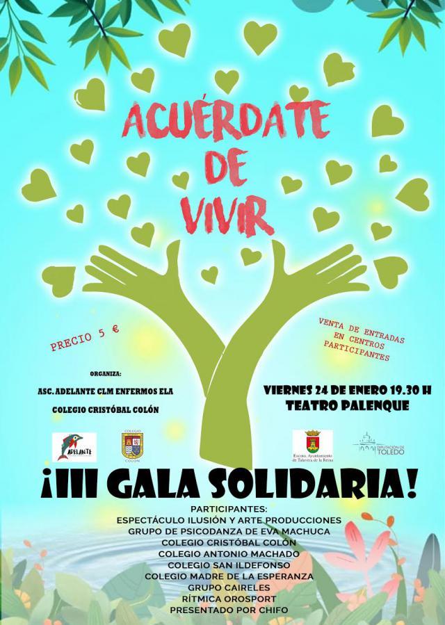 """El Cristóbal Colón organiza la Gala Solidaria """"Acuérdate de Vivir"""""""