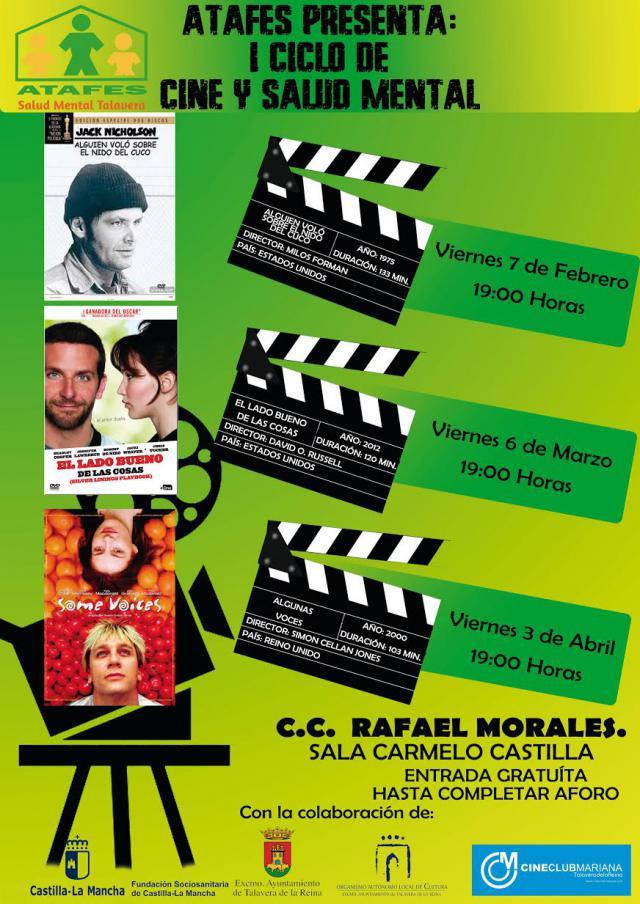 """Comienza el I Ciclo de """"Cine y Salud Mental"""" ATAFES Talavera"""