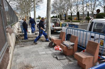 TALAVERA | Mejoras en varios tramos de la Avenida Real Fábrica de Sedas