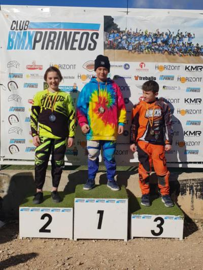 Magníficos resultados para Zaira Vargas, del club BMX Los Pinos, en Zaragoza