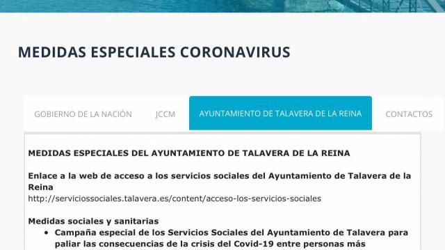 TALAVERA   Conoce todas las medidas adoptadas ante la crisis del coronavirus