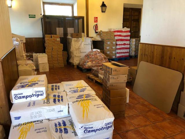 COVID-19 | 15 toneladas de alimentos llegan a 1.600 familias vulnerables de La Sagra toledana