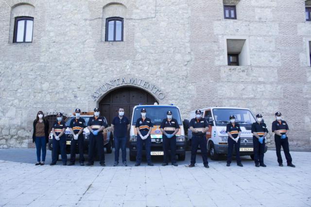 COVID-19 | Homenaje en Torrijos a Protección Civil