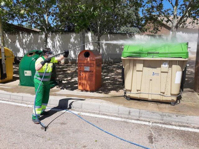 COVID-19 | La cifra: 20.796 contenedores desinfectados en la provincia de Toledo