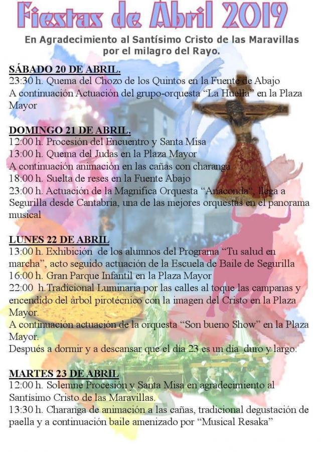 Todo listo en Segurilla para dar comienzo a las Fiestas de Abril