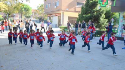 TALAVERA | Los alumnos del colegio Clemente Palencia corren para acabar con la leucemia infantil