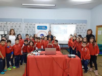 El Colegio Clemente Palencia recibe la visita de la biznieta de Sorolla