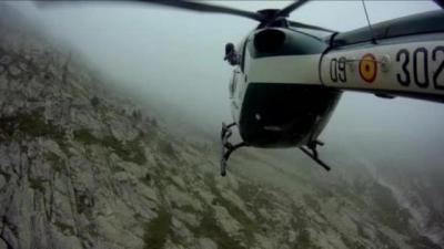 Rescatan a un montañero de La Puebla de Montalbán herido en el Pirineo oscense