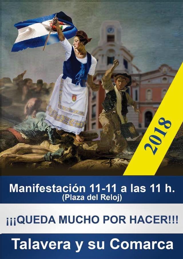 Talavera se prepara para la nueva manifestación reivindicativa de mañana