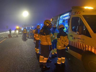 Un hombre muere en la A5 tras un choque frontal con un vehículo que iba en sentido contrario