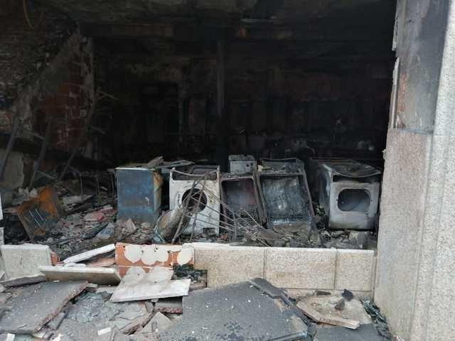SUCESOS | Trasladan al Hospital de Talavera a un bombero herido en el incendio de Oropesa
