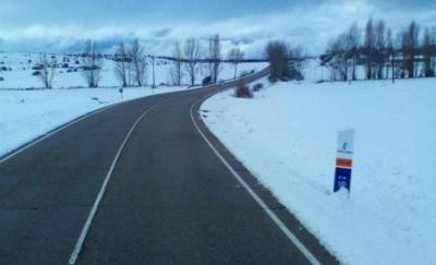ATENCIÓN   Problemas por la nieve en carreteras de Castilla-La Mancha