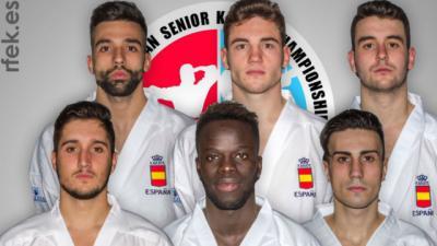 El talaverano Raúl Cuerva, bronce con el equipo de kumite en el Europeo