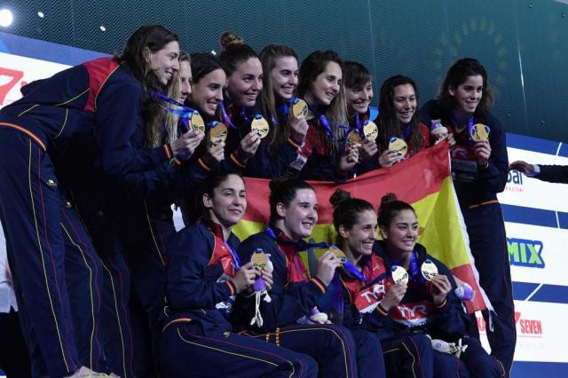 Las medallistas españolas.