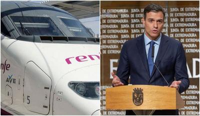 Pedro Sánchez promete que el AVE llegará a Extremadura