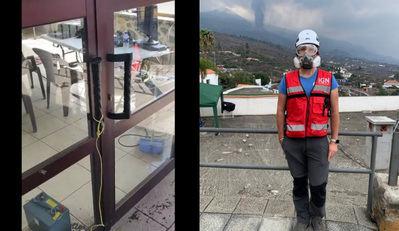 Vídeo: Así ruge el volcán y hace temblar en el centro de trabajo del talaverano Rubén López