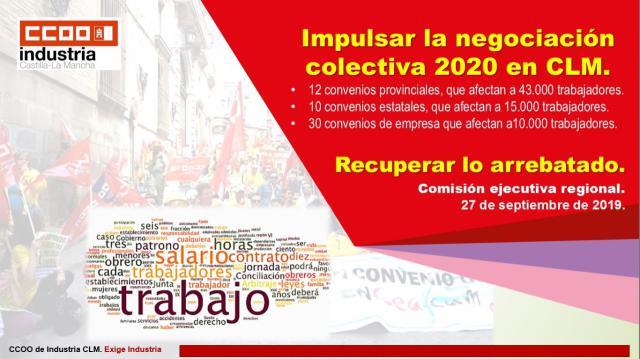 CCOO define criterios y objetivos para la negociación colectiva en Industria en 2020
